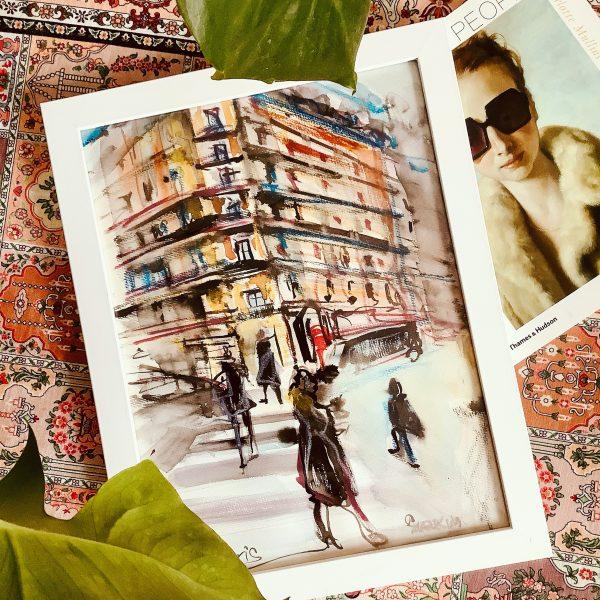 street in paris painting