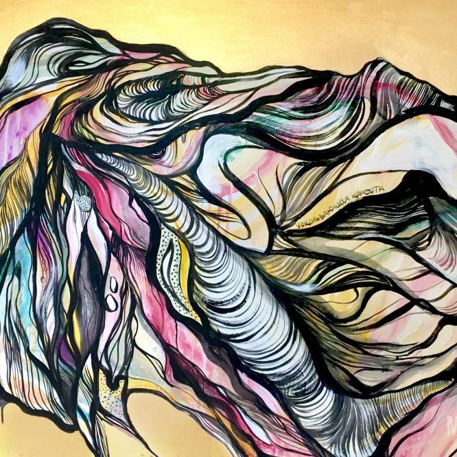 elusive beauty acrylic painting