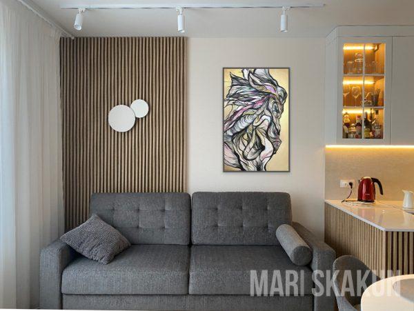 Elusive beauty acrylic work in interior