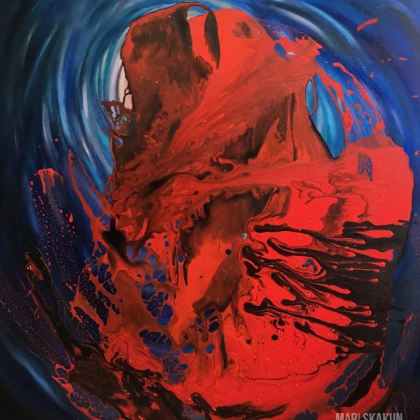 The New Birth oil acrylic painting