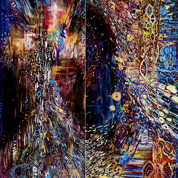 Spaice inside , diptych